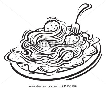 Spaghetti clipart black and white » Clipart Station.