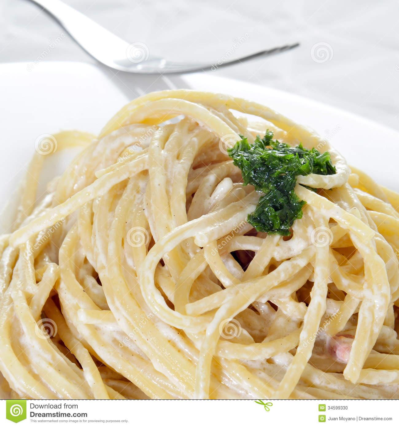 Spaghetti Carbonara Clipart.