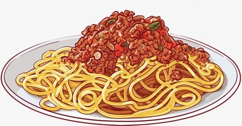 Image result for clipart blackline pictures of spaghetti.