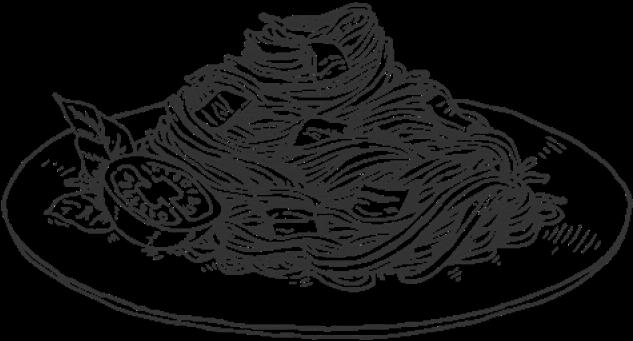 Drawn Pasta Macaroni Noodle.