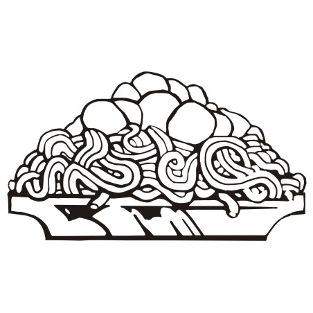 Spaghetti clipart black and white 4 » Clipart Station.