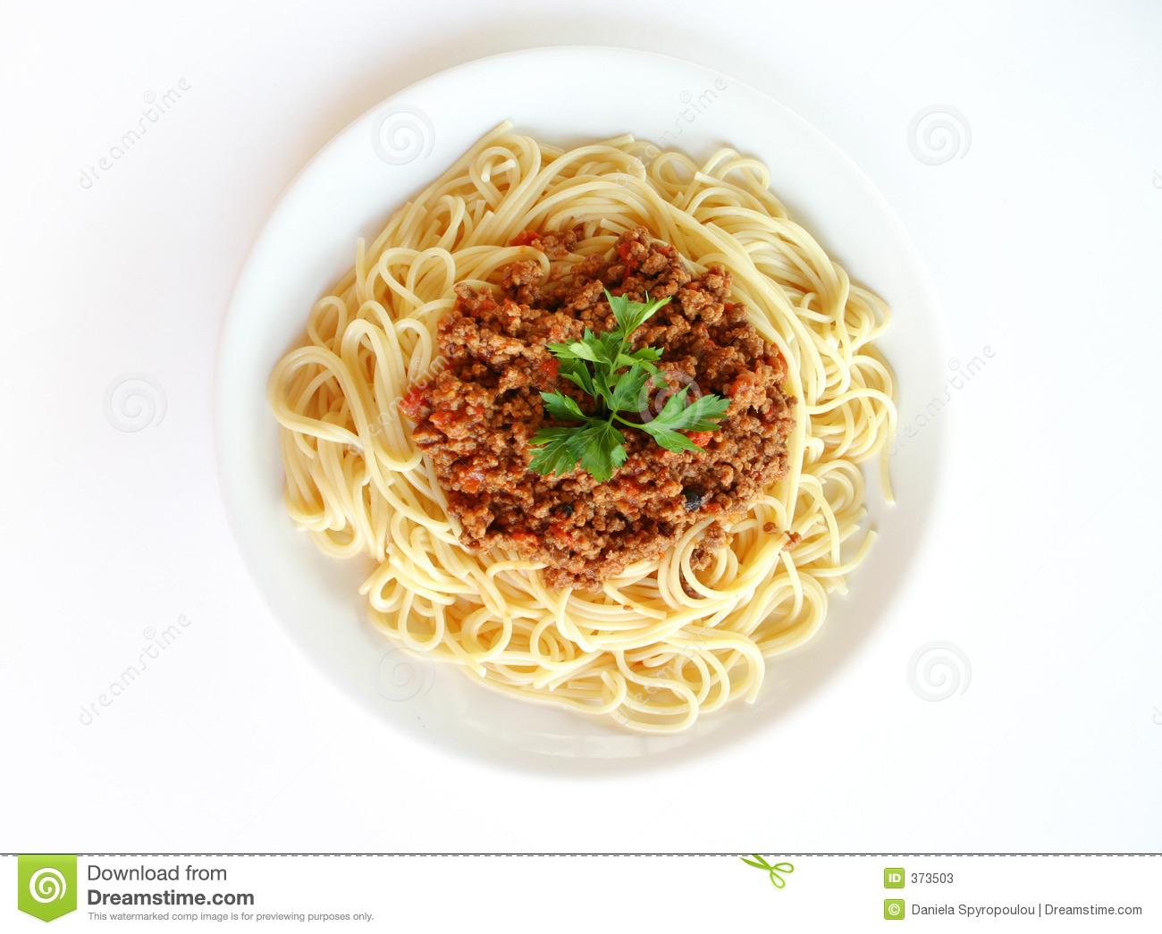 Spaghetti Napolitana Stock Image.
