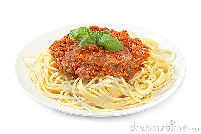 Spaghetti Bolognese Stock Photos.