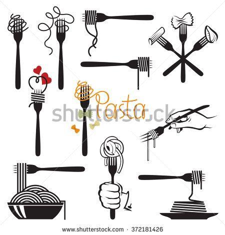 Spaghetti Fork Stock Vectors & Vector Clip Art.