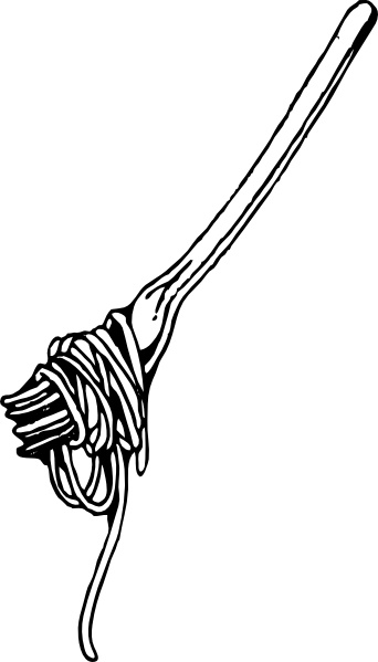 Fork With Spaghetti clip art Free vector in Open office.