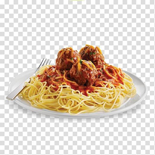 Pasta Garlic bread Spaghetti with meatballs Italian cuisine.