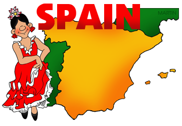 Free Spain Clip Art by Phillip Martin.