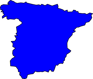 Map Of Spain Clipart.