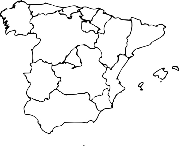 Map Of Spain clip art Free vector in Open office drawing svg.