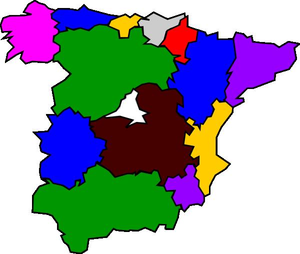 Regions Of Spain Map Clip Art at Clker.com.