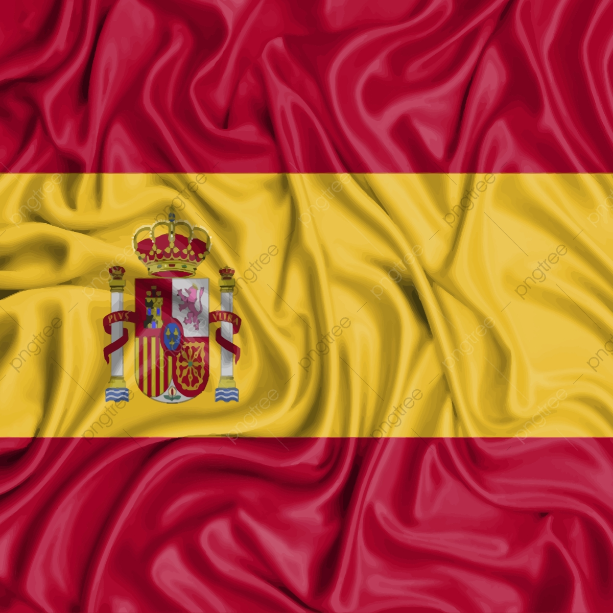 Spain Flag, World, Yellow PNG and Vector with Transparent.