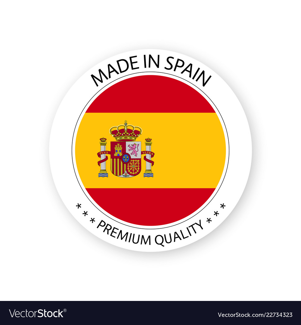 Modern made in spain label vector image.