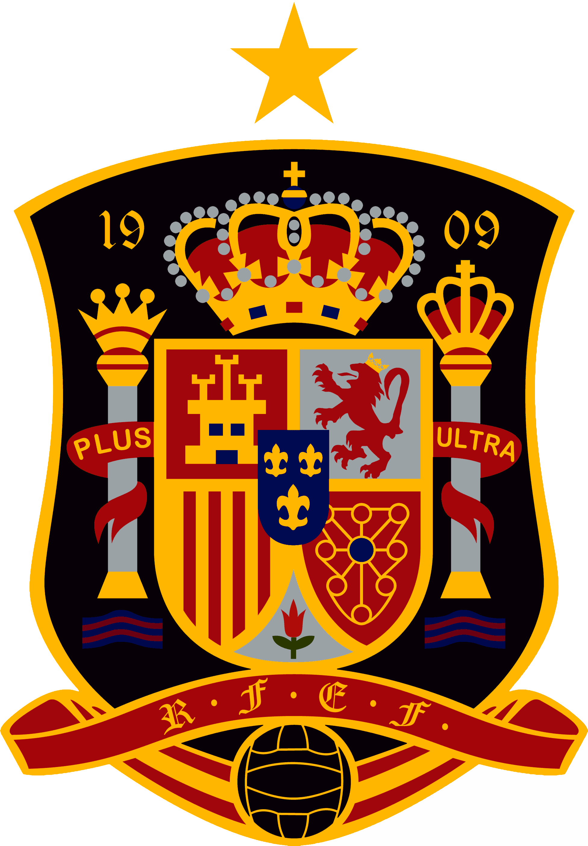 Spain National Football Team Logo Download Vector.