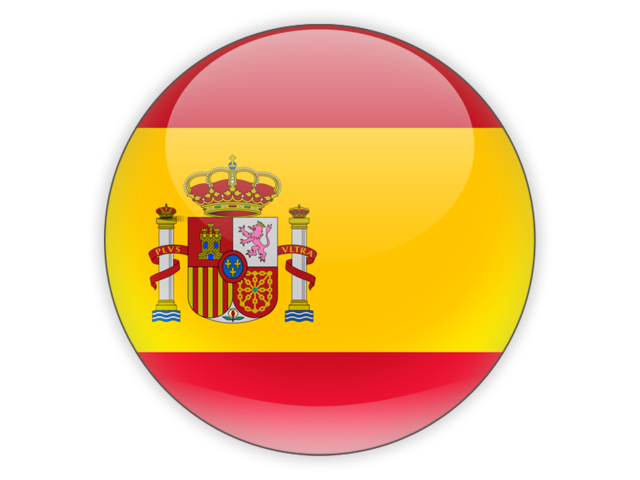 Round icon. Illustration of flag of Spain.