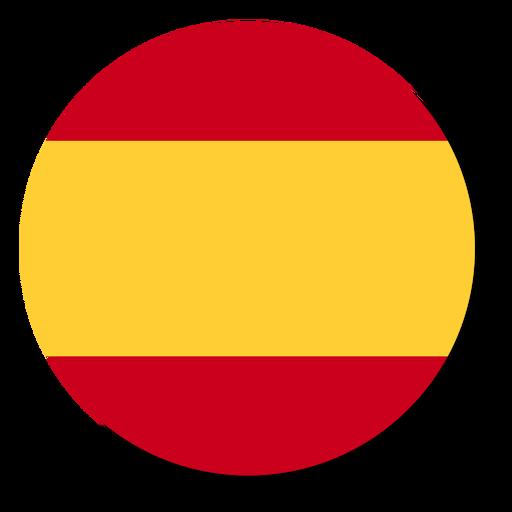 Spain flag language icon circle.