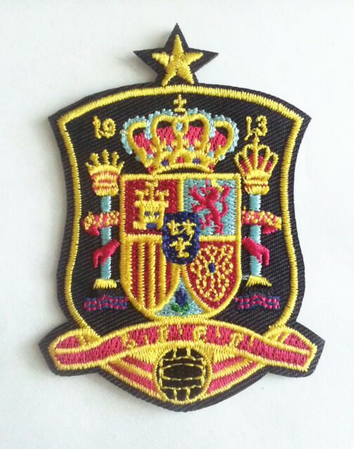 spain national soccer team Embroidered Iron On/Sew On Patch.