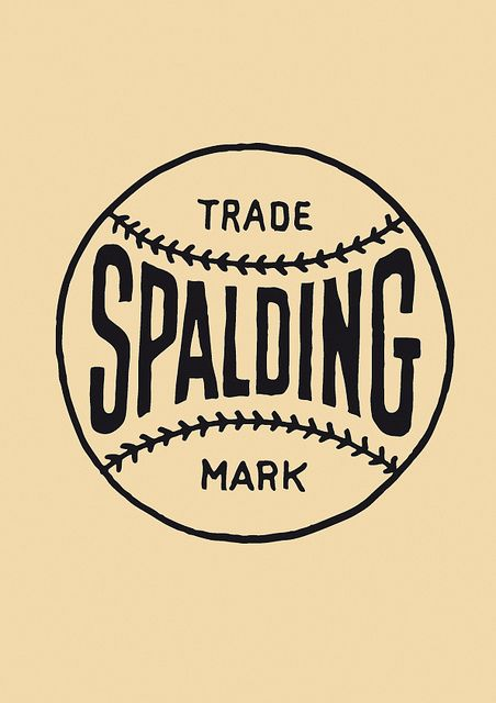spalding logo, vintage, old by karlheinsport, via Flickr.