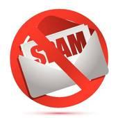 Clip Art of Spam danger label k11238078.