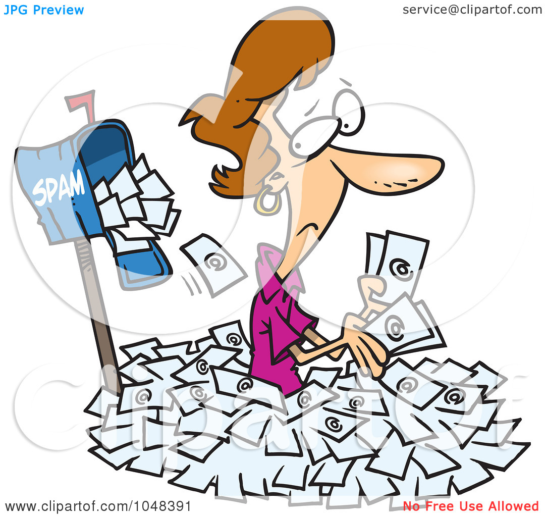 Free spam mail clipart.