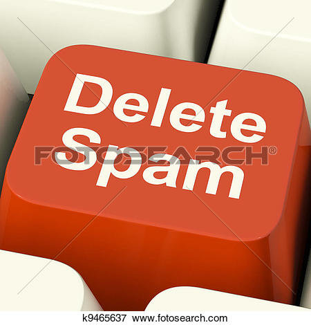 Stock Illustration of Delete Spam Key For Removing Unwanted Email.