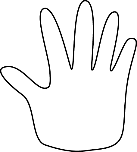 Hand span clipart.
