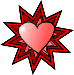 Shaded Hearts Clip Art Download.