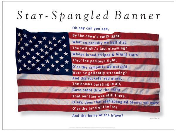 Children the star spangled banner clipart.