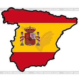 in colors of Spain.