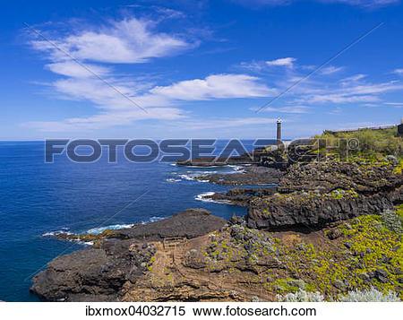 Stock Image of Leuchtturm, bei Punta Talavera, La Fajana.