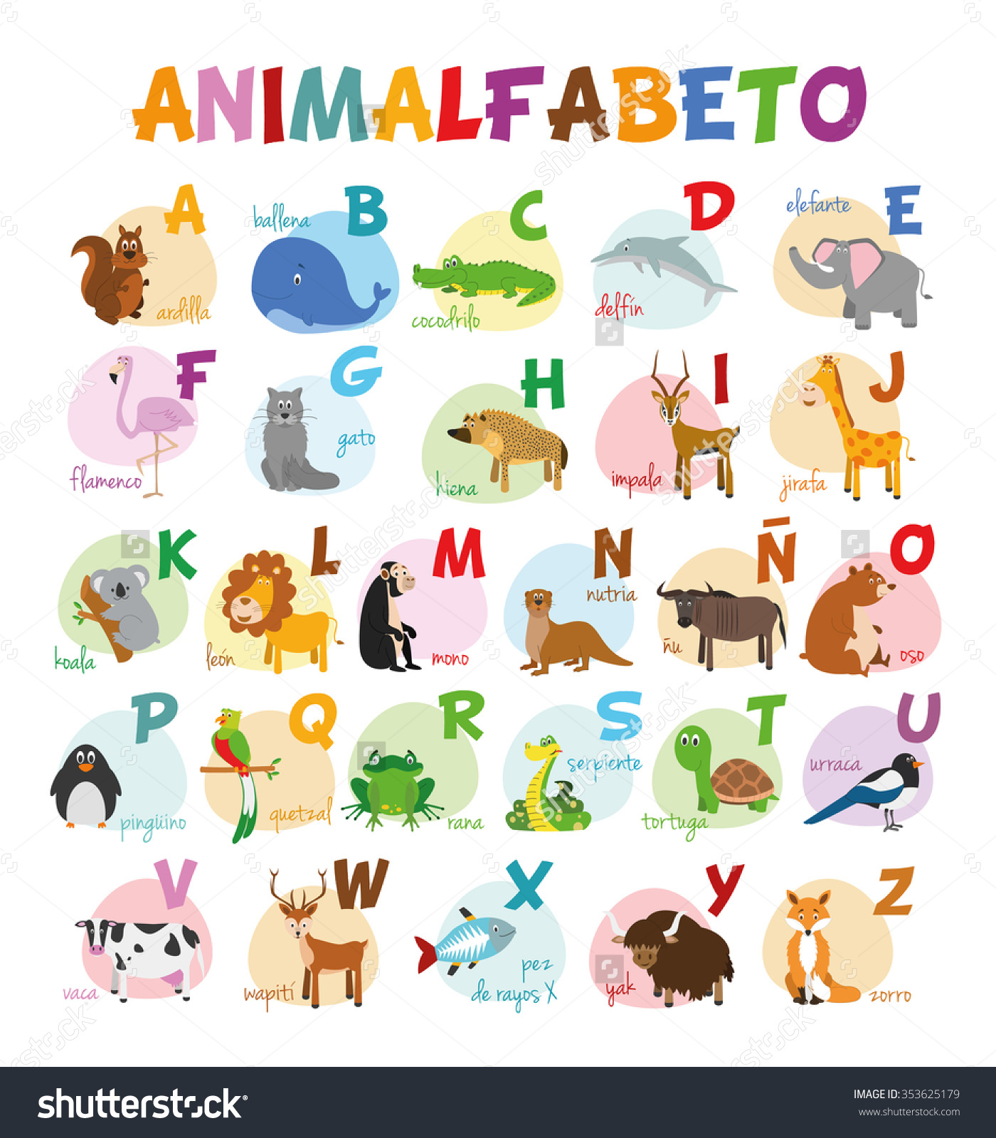 Spanish Animal Clipart.