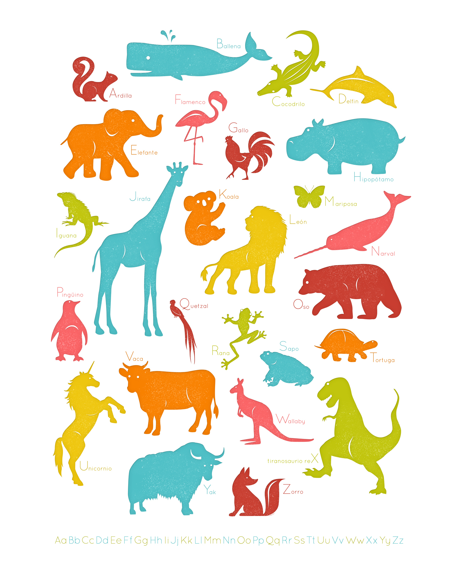 My Spanish Animal Alphabet Poster. Can't wait to print it!.