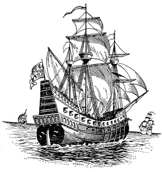 Explorer Ship Clipart.