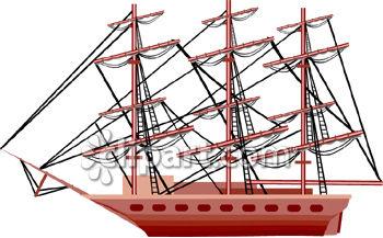 Spanish Galleon Sailing Ship.
