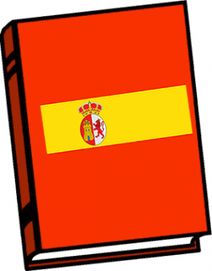 Spanish Book Clipart.