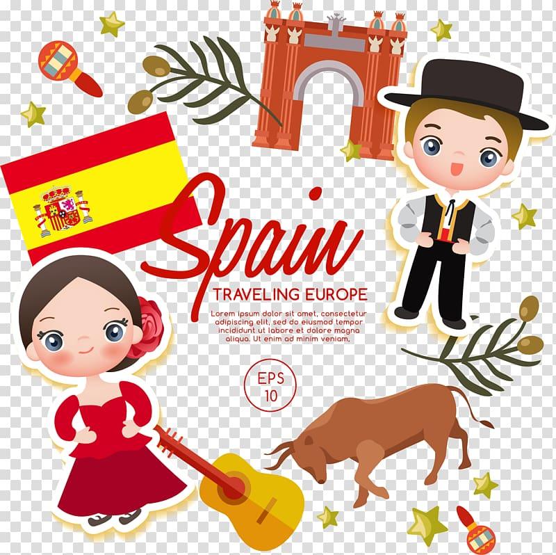 Spain illustration, Spain Euclidean Illustration, Spanish.