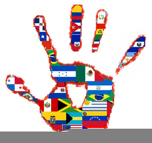 Spanish Speaking Countries Flags Clipart.