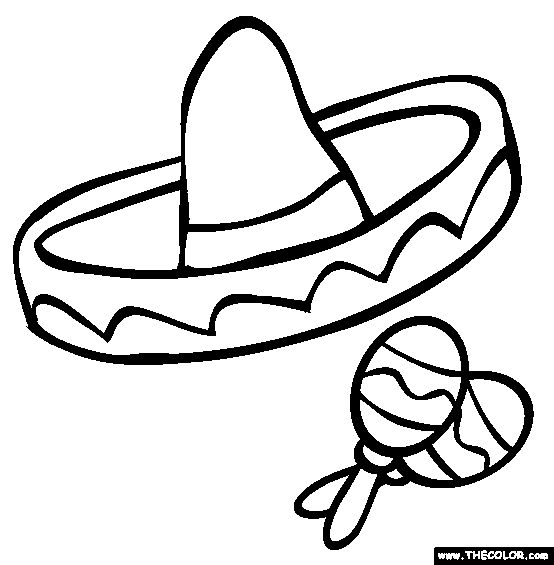Spanish class clipart black and white 2.