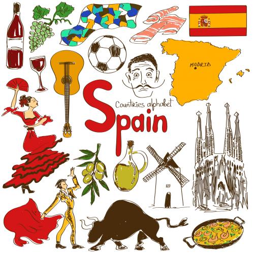 Spanish Culture Cliparts.