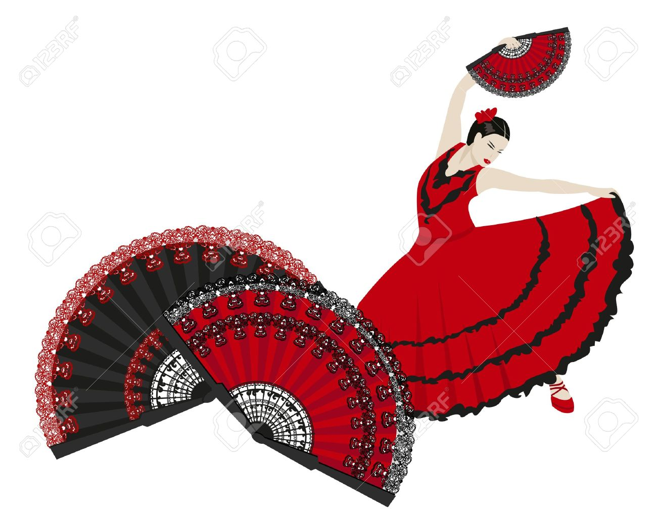 Spain flamenco dancers clipart 7 » Clipart Station.