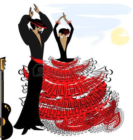 Spain flamenco dancers clipart 10 » Clipart Station.