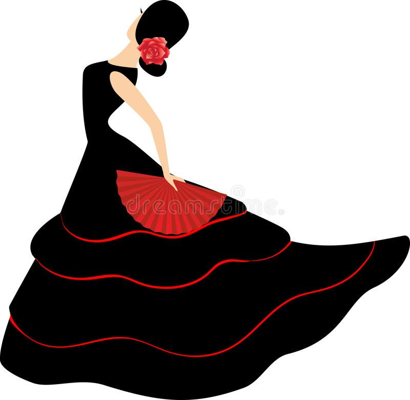 Flamenco Dancer. Spanish Girl With Fan.