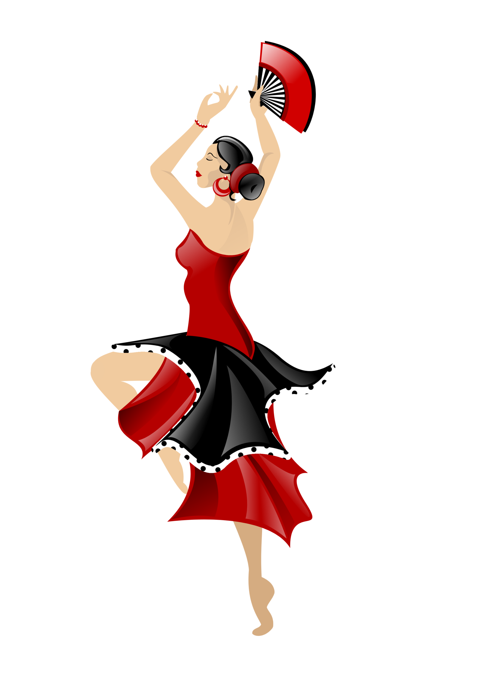 Cartoon flamenco dancer.
