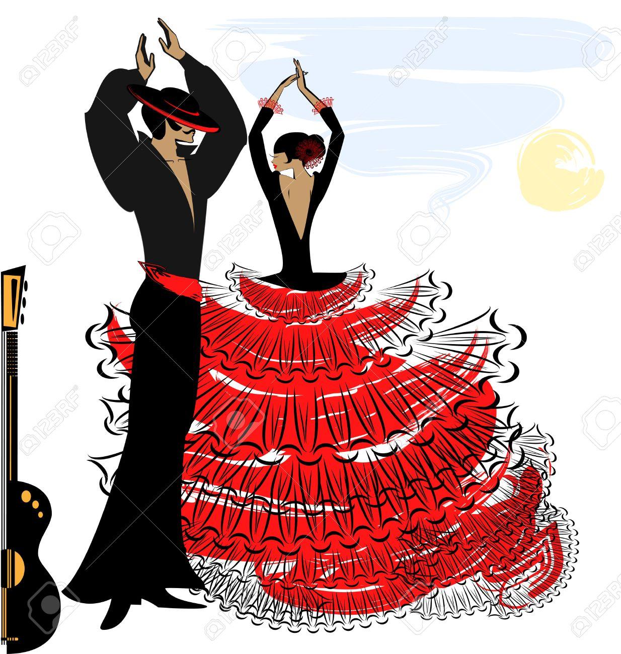 Spanish Dancing Clipart.
