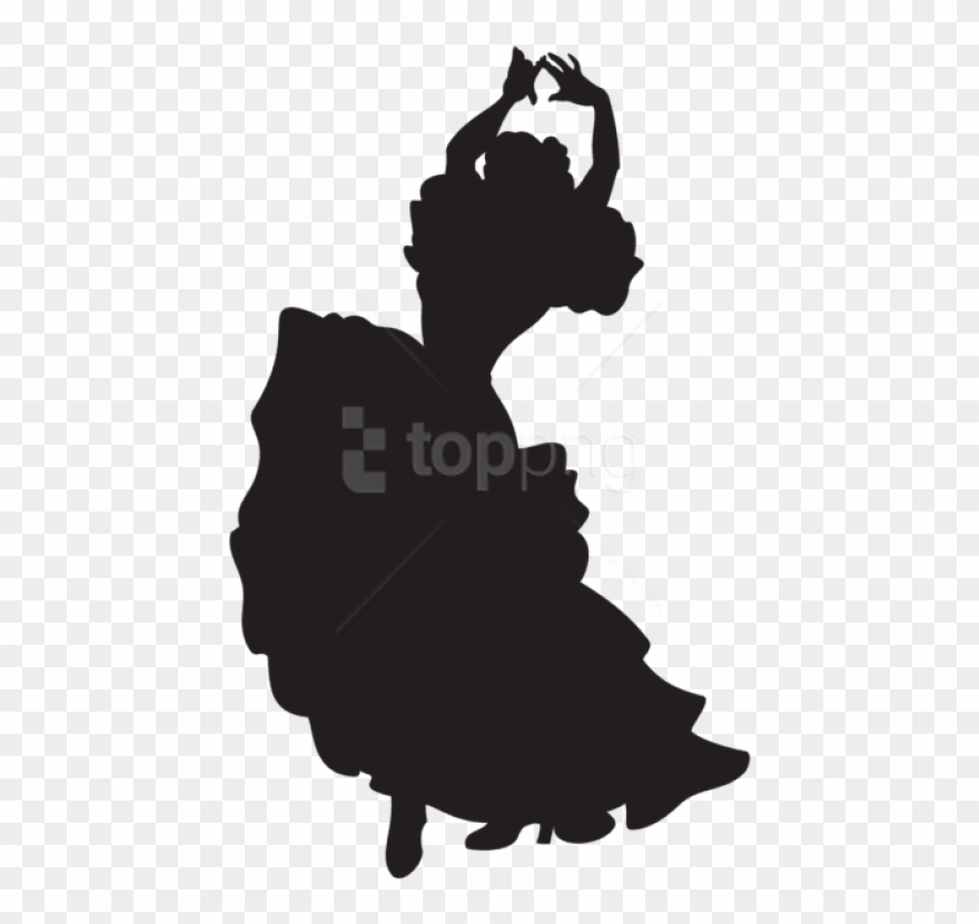 Free Png Spanish Dancer Silhouette Png.