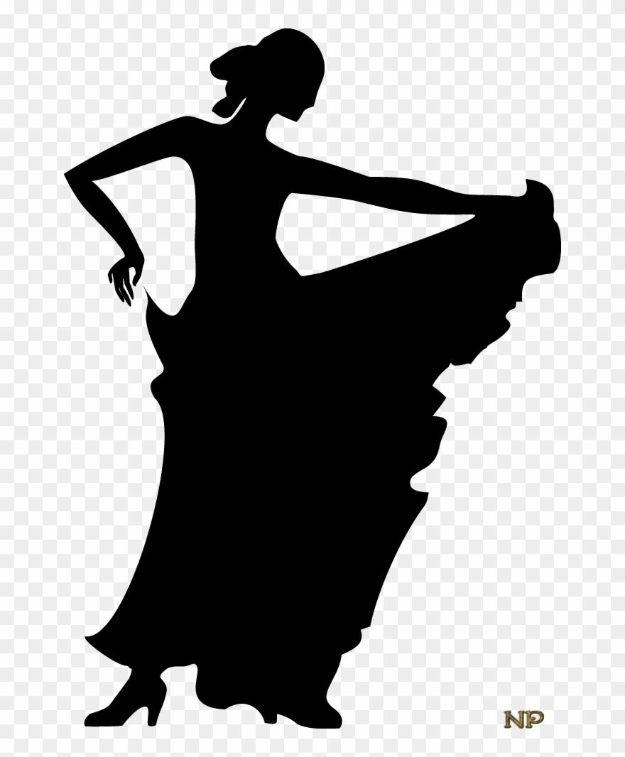 Woman Silhouette, Dancer Silhouette, Flamenco Dancers.