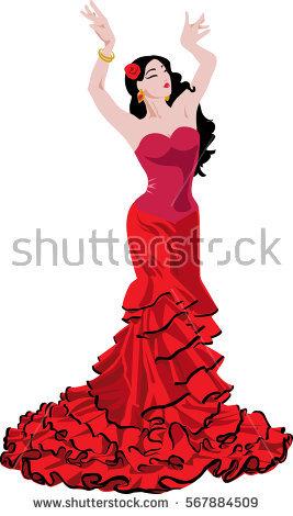 Spain flamenco dancers clipart 5 » Clipart Station.