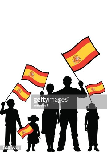 Patriotic Spanish Family premium clipart.