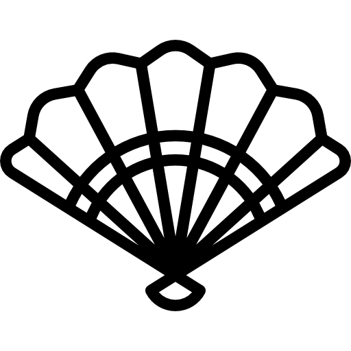 spanish, hot, traditional, Air, signs, fan icon.