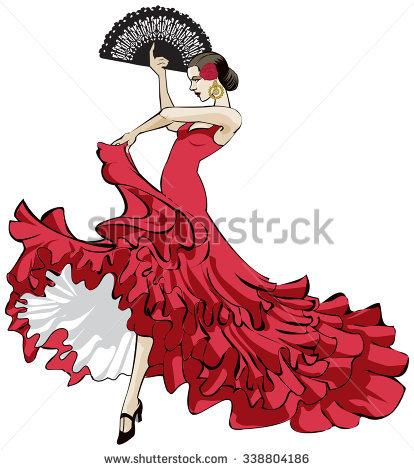 Spain flamenco dancers clipart 8 » Clipart Station.