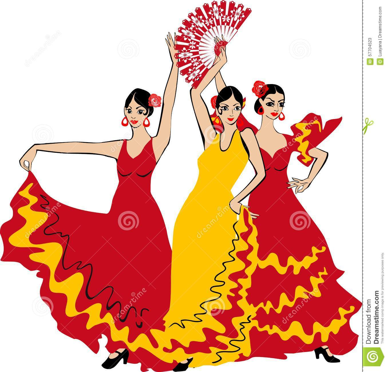 Spanish Flamenco Clipart.